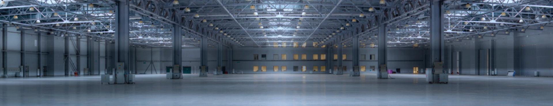 Fotografia de uma nave industrial, instalações para Indústria