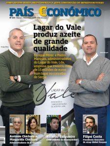 Capa da revista evidenciando a entrevista ao CEO da aicep Global Parques