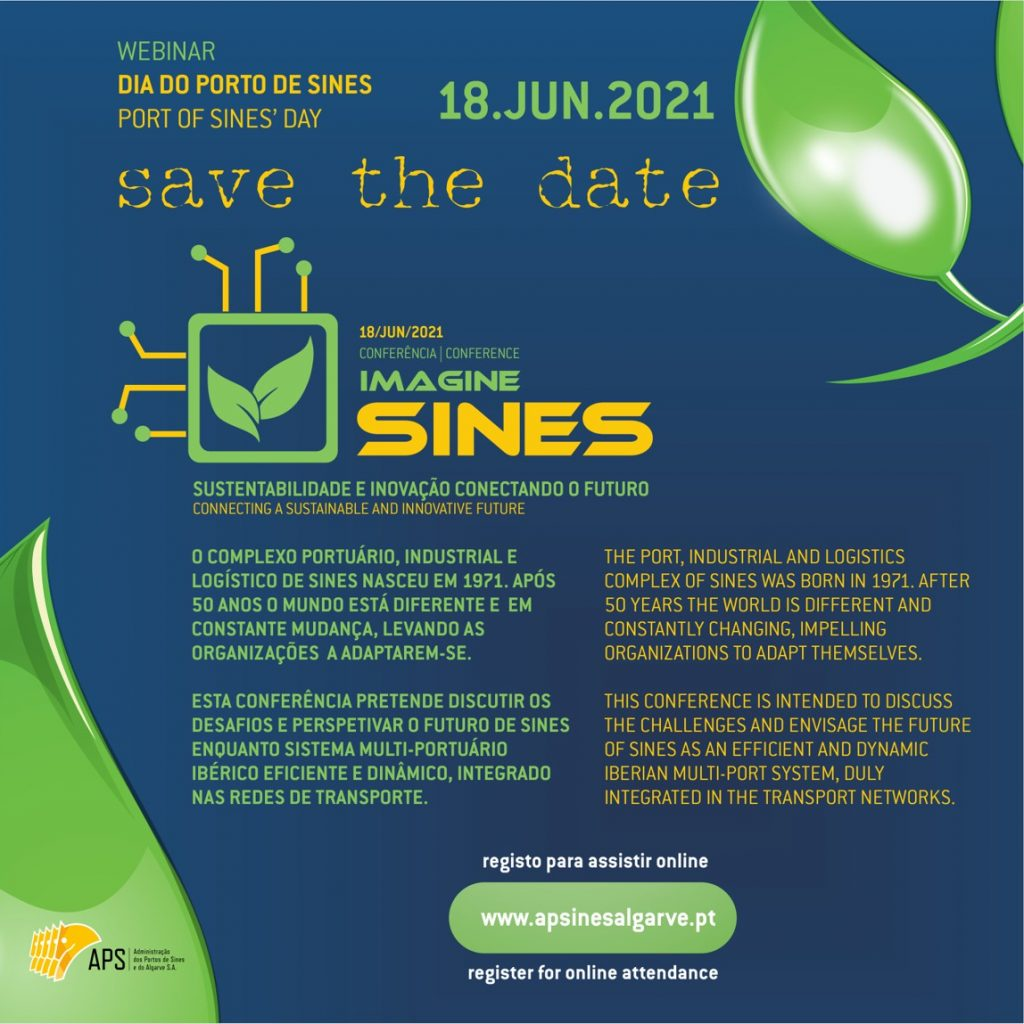 Image of the international conference to mark the Day of the Port of Sines, Save The Date