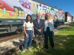 aicep Global Parques esteve presente no evento de apresentação da locomotiva decorada por artista plástica portuguesa